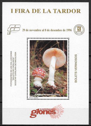 filatelia hongos Cataluna 1996
