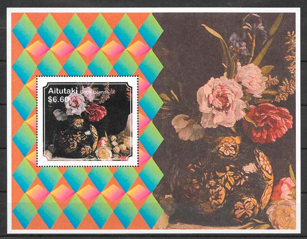 colección sellos flora Aitutaki 2011