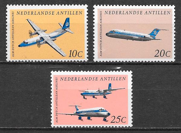 filatelia colección transporte Antillas Holandesas 1968