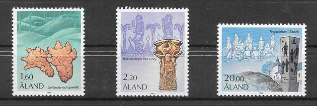 Sellos motivos histórica Aland 1986