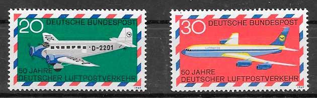 filateloia transporte Alemania 1969