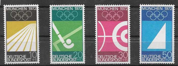 Sellos deporte Alemania 1969