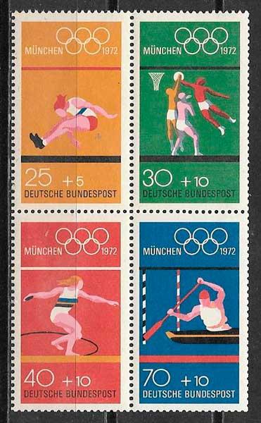 sellos filatelia deporte Alemania 1972