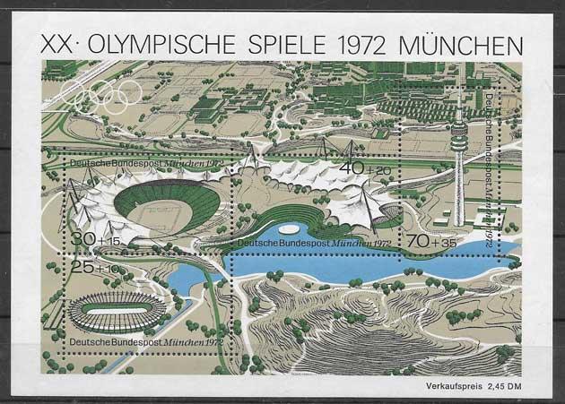 sellos Juegos Olímpicos Alemania 1972