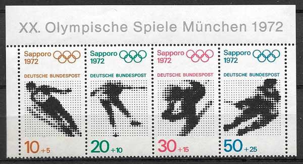 sellos deporte Alemania 1972