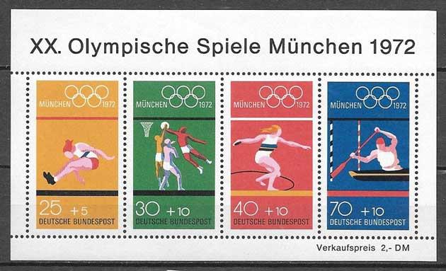 sellos olimpiadas Alemania 1972