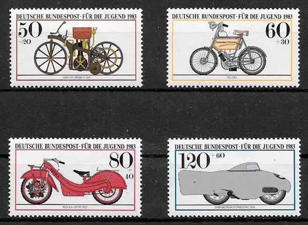sellos transporte Alemania 1983