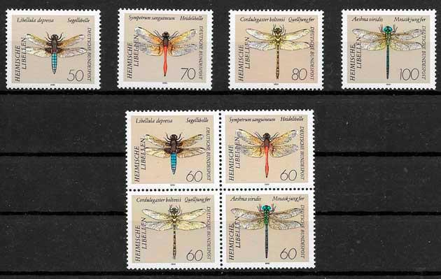 colección sellos fauna Alemania 1991