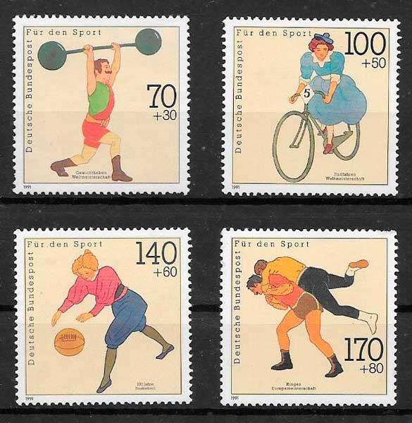 sellos deporte Alemania 1991