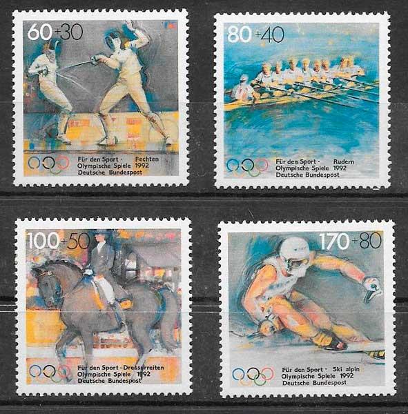 filatelia deporte Alemania 1992