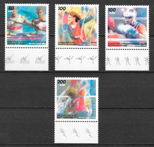 sellos deporte Alemania 1995