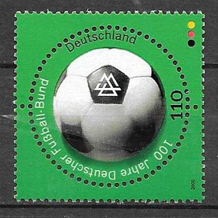 sellos colección fútbol Alemania 2000