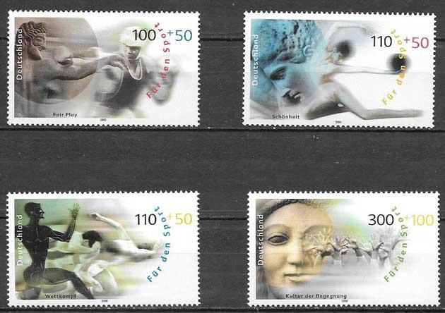 sellos colección deporte Alemania 2000
