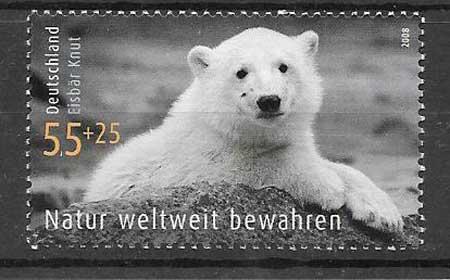 Colección sellos tema fauna - oso polar