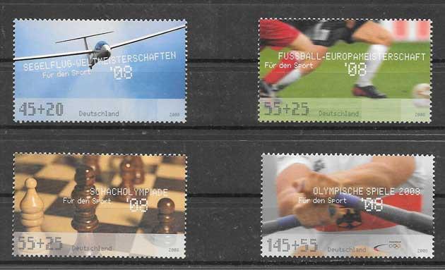 colección sellos tema disciplinas deportivas 2008