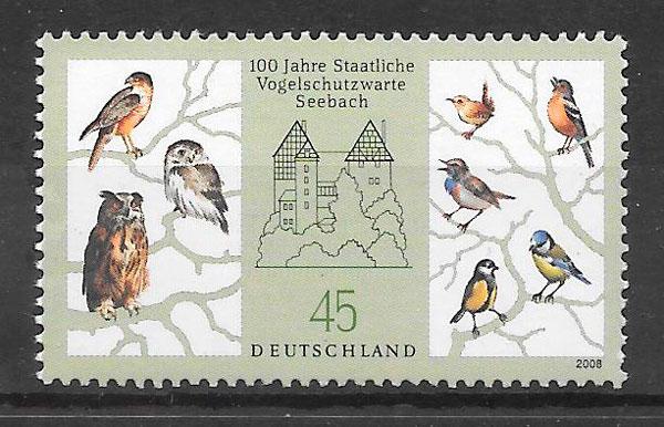filatelia fauna Alemania 2008