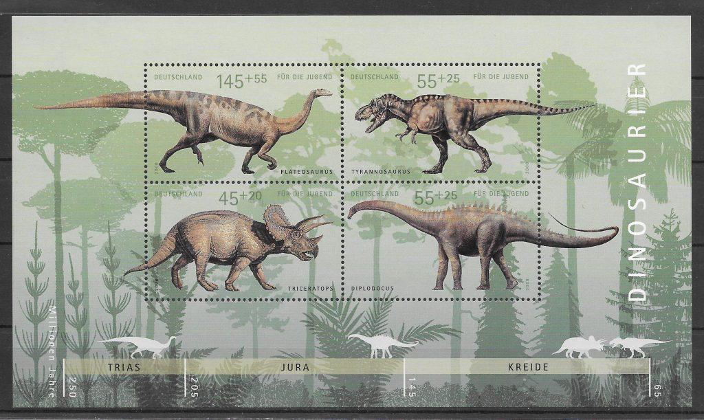sellos dinosaurios Alemania 2008