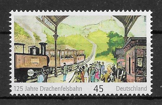 sellos trenes Alemania 2008