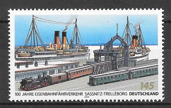 filatelia colección trenes Alemania 2009