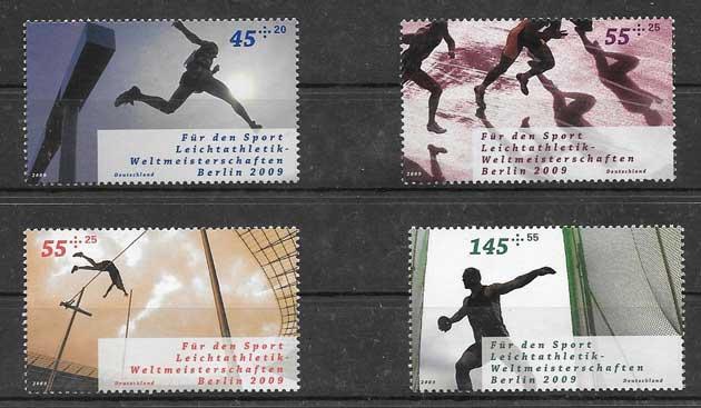 colección sellos diferentes eventos deportivos