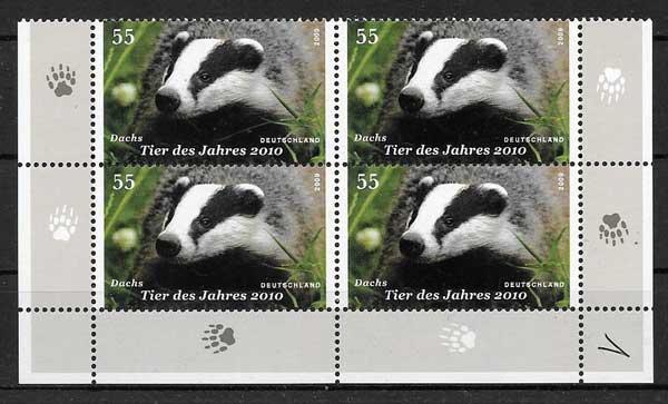 sellos colección fauna Alemania 2009