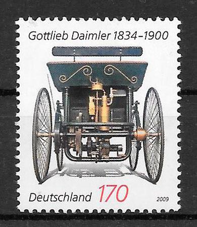 filatelia colección transporte Alemania 2009