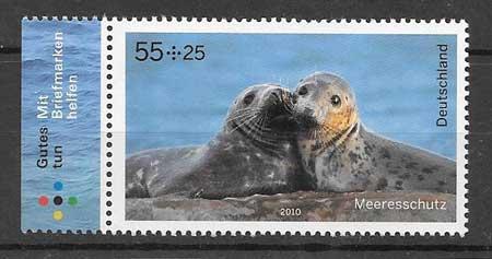 Colección sellos fauna protegida - la foca