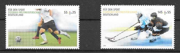 colección sellos disciplinas deportivas Alemania 2010