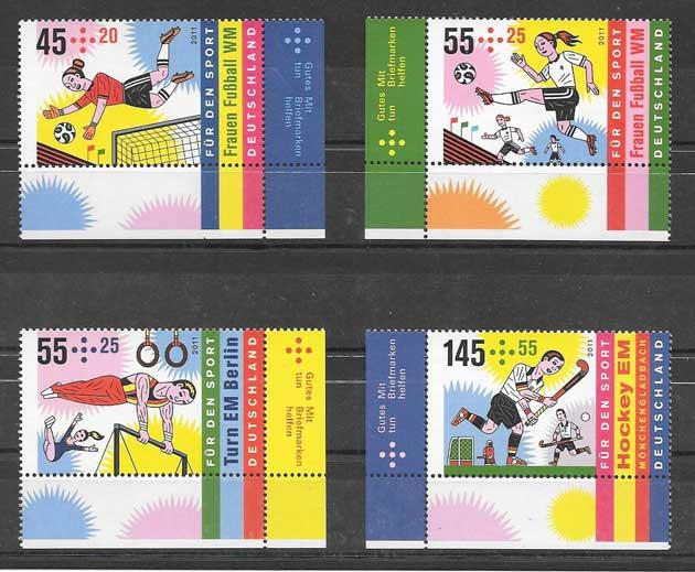 colección sellos tema deportes varios