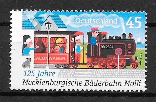 colección sellos trenes Alemania 2011
