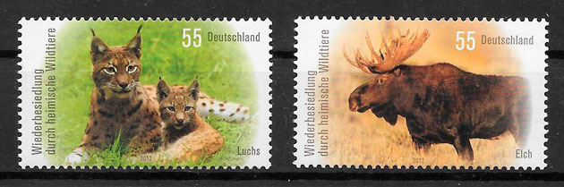 sellos fauna Alemania 2012
