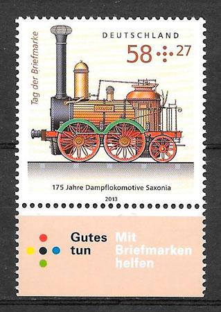 filatelia colección trenes Alemania 2013