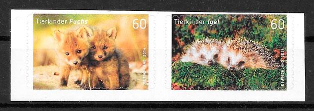 colección sellos fauna Alemania 2014