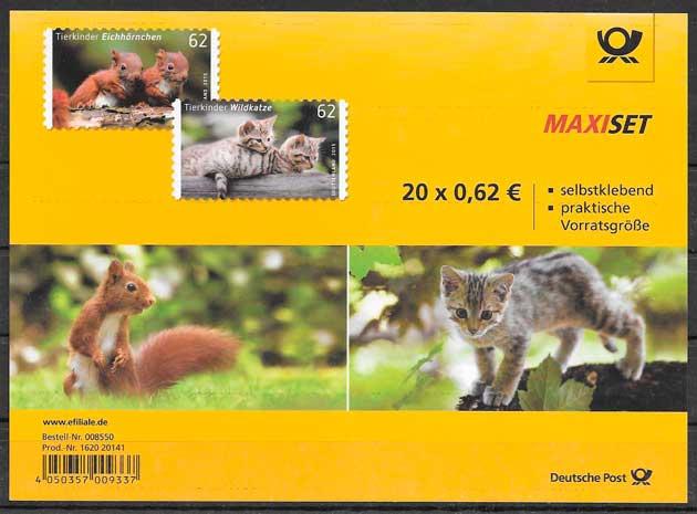 filatelia fauna Alemania 2015