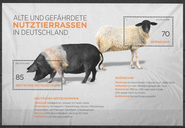 sellos Fauna Alemania 2016