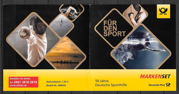 colección sellos deporte Alemania 2017