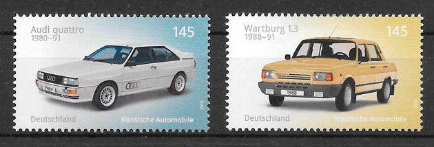 colección sellos transporte Alemania 2018