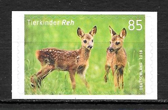 filatelia fauna Alemania 2018