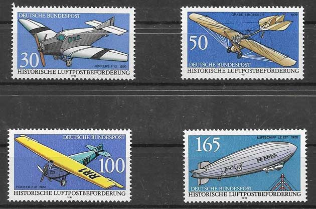 Filatelia sellos transporte postal aéreo