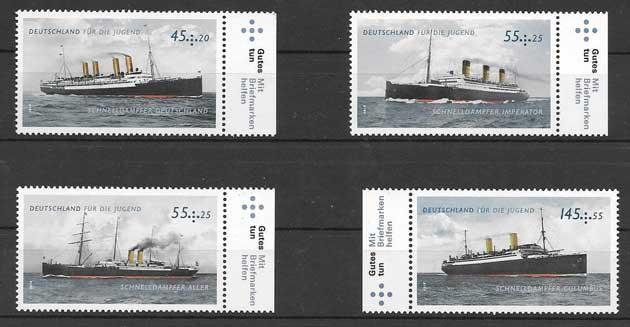 Estampillas transporte marítimo Alemania 2010