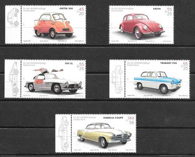 Filatelia sellos automóviles alemanes 2002