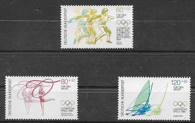 Sellos juegos olímpicos de Alemania 1984
