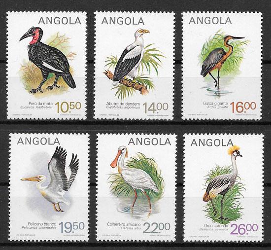 filatelia fauna Angola 1984