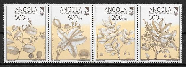 colección sellos flora Angola 1992