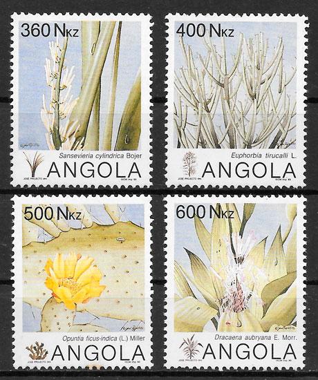sellos flora Angola 1959