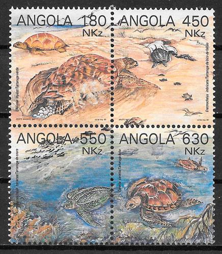 sellos fauna Angola 1993