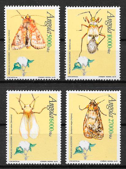 filatelia colección fauna Angola 1994