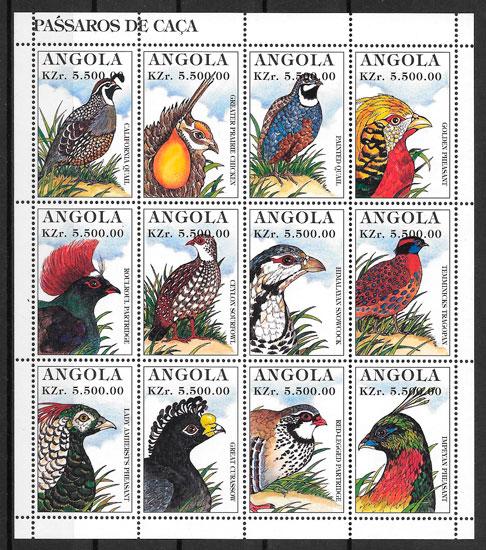 filatelia colección fauna Angola 1996