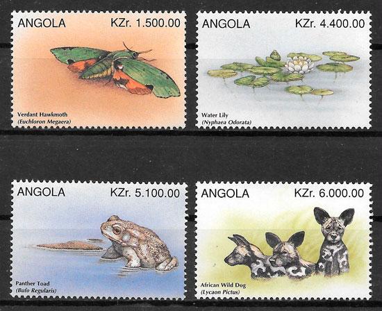 colección sellos fauna Angola 1996