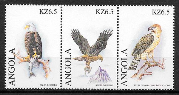 filatelia colección fauna Angola 2000